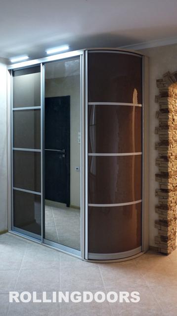 Фотографии радиусных шкафов на заказ: галерея фото rolligdoo.