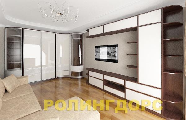 Встроенная Мебель В Гостиную Фото