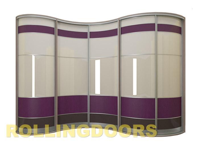 Радиусные шкафы в гардеробную комнату на заказ rollingdoors..