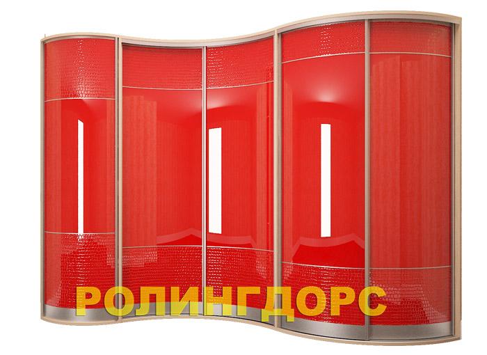 Радиусные шкафы в детскую комнату на заказ rollingdoors.ru.