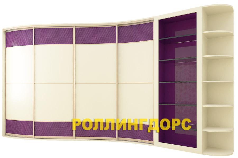 Встроенный радиусный шкаф с сервантом цены роллингдорс.