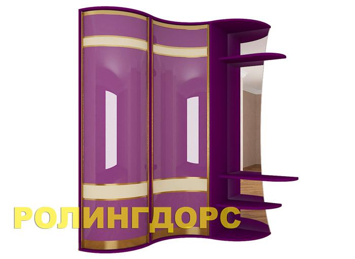 Радиусный угловой шкаф в прихожую rollingdoors.ru.