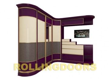 Радиусные шкафы, шкафы-купе в спальню на заказ в интернет-ма.